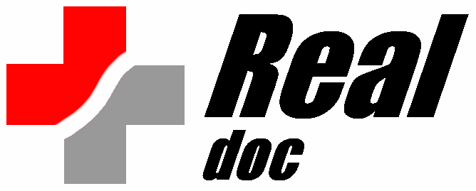 logo cross with Real Doc
